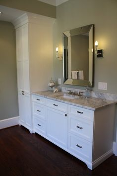 Single Sink Custom Vanities With Makeup Area   Google Search