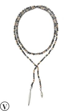 Stay trendy with a mixed metal gold, rose gold & hematite lariat necklace by Stella & Dot. Find fashion necklaces, trendy necklaces, pendants, chokers & more.