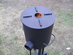 Efficient hot stove with very little wood.