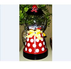 Disney World Inspired Clay Pot Projects, Clay Pot Crafts, Mickey Mouse And Friends, Mickey Minnie Mouse, Disney Dishes, Mickey Mouse Decorations, Candy Jars, Candy Bowl, Indoor Crafts