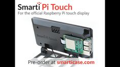 SmartiPi Touch is a super sleek stand for the official Raspberry Pi touch display. Camera functionality, wall mountable, and HAT ready.