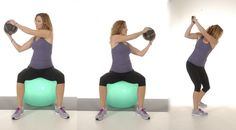 Medicine Ball Trunk Rotation on Ball
