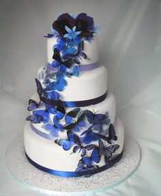 12 pack of Dark Blue Butterflies great for Cake Toppers. $13.00, via Etsy.