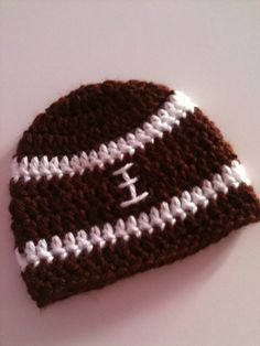 Crochet Football Baby Hat infant photo prop by GoingCrafty on Etsy, $10.00