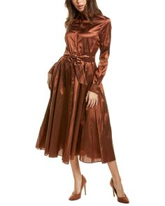 Shirtdress, 34c, Max Mara, Sash, Wrap Dress, Cuffs, Luxury Fashion, Feminine, Italy