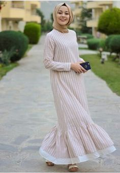 Dress Muslim Modern, Muslim Dress, Abaya Fashion, Modest Fashion, Fashion Dresses, Hijab Style Dress, Muslim Women Fashion, Abaya Designs, Islamic Clothing