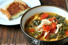 Recipe w/Chicken, Kale, & Quinoa: Tuscan Chicken Soup   Nosh and Nourish