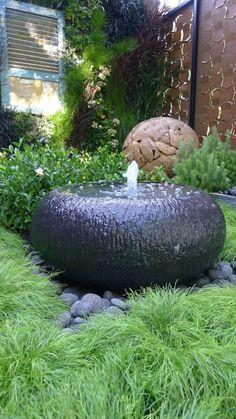 Trend Feng Shui Garten Stein Brunnen Gartengestaltung Beispiele