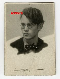 1930s Vintage Commercial Photo Young Man in Glasses | eBay