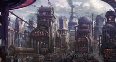 【PFAOS】鉄の都市アスレハ【ルナス】 / March 4th, 2020 - pixiv Steampunk City, Steampunk Fashion, D&d Dungeons And Dragons, Ap Art, Cool Backgrounds, Fantasy, City Art, Dieselpunk, Landscape Art