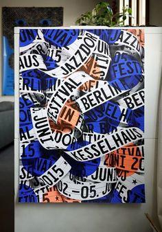 Jazzdor Strasbourg Berlin 2016 posters - Fonts In Use Mises En Page Design Graphique, Illustration Design Graphique, Graphic Illustration, Graphic Design Print, Graphic Design Layouts, Graphic Design Typography, Poster Fonts, Typographic Poster, Jazz Poster