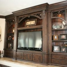 Entertainment Centers and Media Built ins, Project Management, Design and Engineering, New Kitchens, Custom Woodworking - Yelp Wood Bed Design, Tv Wall Design, Furniture Design, Living Room Built Ins, Living Room Tv, Entertainment Center Wall Unit, Bedroom Flooring, Luxury Interior Design, Cabinet Design