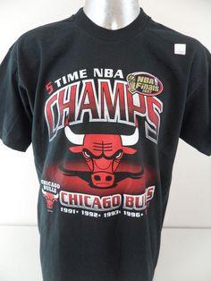 692f9cc7945c6b 1997 Chicago Bulls NBA Finals 5 Time Champions XL NWOT T Shirt Jordan Pippen   FruitoftheLoom  GraphicTee