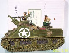World War II U.S. Armored Divisions DD030 M7 Priest set - Made by King and Country Military Miniatures and Models. Factory made, hand assembled, painted and boxed in a padded decorative box. Excellent gift for the enthusiast.