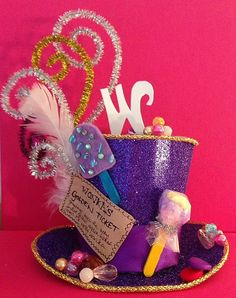Willy Wonka inspired mini tophat  halloween / fancy dress