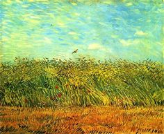 1887 Vincent van Gogh (Dutch, 1853-90) ~ Wheat Field with a Lark