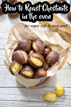 How To Roast Chestnuts In The Oven {Soft & Easy Peel} - Italian Recipe Book - - The perfect recipe for roasted chestnuts that are super soft to taste and peel off easily. Italian Recipe Book, Italian Recipes, Roasted Chestnuts Oven, Roasted Nuts, Roasted Chicken, Salat To Go, Chestnut Recipes, Thanksgiving Appetizers, Italian Thanksgiving