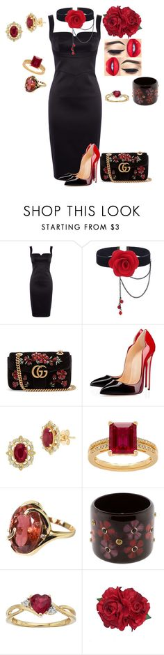 """TANGO NIGHT"" by svetlozeme on Polyvore featuring Karen Millen, Gucci, Lord & Taylor, Gemjunky and Mark Davis"