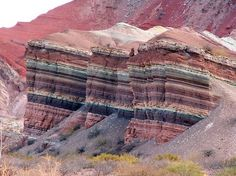 Beautiful stripes in the landscape of the Quebrada de Humahuaca, a narrow mountain valley located in the province of Jujuy in northwest Argentina, miles north of Buenos Aires. It is about 96 miles long. - photo from Geology IN Beautiful World, Beautiful Places, Formations Rocheuses, Mendoza, Stock Foto, Rocks And Minerals, Science And Nature, Natural Wonders, Natural World