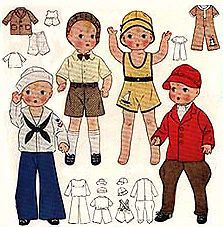 "For 14"" Patsy Doll Clothing Pattern  #1994"