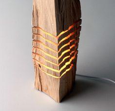 Split Grain: Wooden Lamps and Sculptures