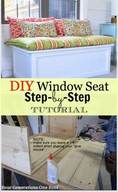 DIY Window Seat instructions