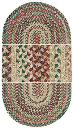 braided rug & other decor
