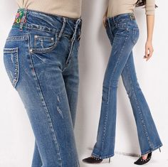 http://fashiongarments.biz/products/womens-push-up-jeans-bell-bottom-jeans-with-embroidery-new-brand-autumn-elastic-skinny-flare-jeans-femme/,   100% New Brand Fabric: Cotton and Polyester Season:  Spring; Autumn; Winter 1. Size: This is Chinese size,  smaller than US/European size. You can refering to your waist and hips, or leave us a message to ask us for help.It is our pleasure to help you. 2. Color: Different computer screen can display different colors even if it is the same…