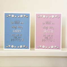 Personalised+'Cute+as+a+Button'+New+Baby+Card+(copy), £3.95