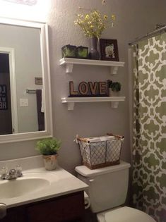 Shelves And Basket, Good Idea For Small Bathroom