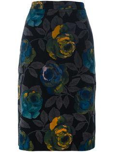 Shop Emanuel Ungaro Vintage floral skirt.