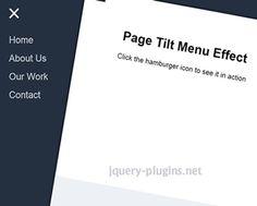 page tilt effect effect menu navigation pageeffect tilt tilteffect
