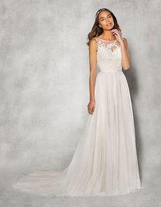 Front view of A-Line wedding dress Billie by Heidi Hudson