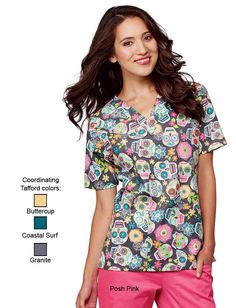 Uniform Advantage offers a vast assortment of medical scrubs and uniforms that are comparable to both Lydia's & Tafford uniforms. Cute Scrubs Uniform, Scrubs Outfit, Disney Scrubs, Halloween Scrubs, Uniform Advantage, Medical Scrubs, Nursing Scrubs, Peeling, Scrub Tops