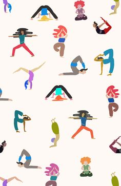 yoga lovers Art Print