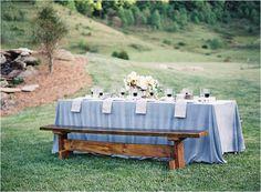 Dusty Blue Wedding Inspiration   by Heather Payne Photography