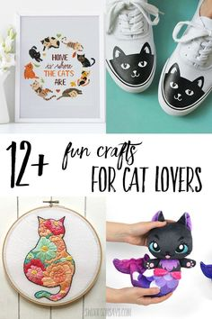 Click to choose your favorite cat lover craft from this fun list of cat craft for adults to make! Perfect handmade gift ideas for anyone who loves kitty crafts.