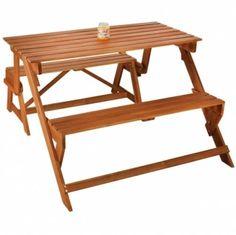 Garden Folding Bench Seater Yard Party Table Balcony Seat Furniture Patio Picnic