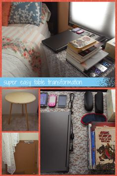 Super Easy Table Transformation - I repurposed already-owned materials to make a very, very easy diy table with a much larger top!