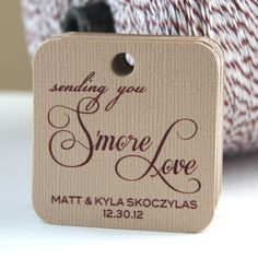 Smore Love Personalized Wedding Favor Tags