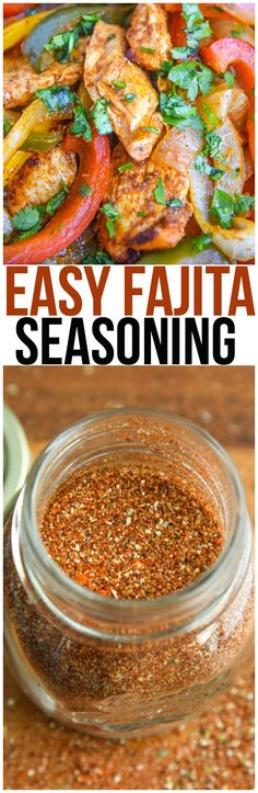 Make your own homemade fajita seasoning recipe instead of using a seasoning packet! It's perfect for chicken fajitas, steak fajitas, shrimp fajitas, or even vegetarian fajitas. via (Chicken Fajitas) Fajita Marinade, Fajita Mix, Marinade For Chicken Fajitas, Mexican Chicken Marinade, Healthy Chicken Fajitas, Veggie Fajitas, Homemade Fajitas, Homemade Fajita Seasoning, Eating Clean