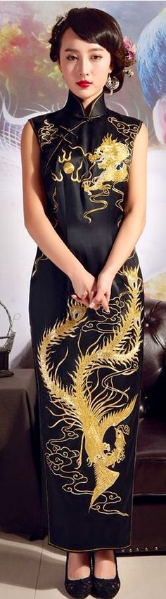 Dragon pattern cheongsam