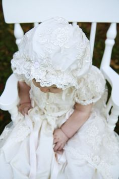 The Ellwood Avenue Chronicles // Penelope Christening Gown & Bonnet