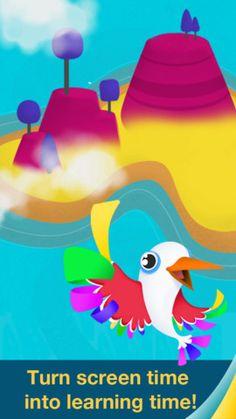 Motion Math wings. Der er det gratis spil, som jeg har prøvet, men man kan også købe pre multiplikation app til 19 kr og basis og adv til 25 kr stykket eller alle til 45 kr.  Den gratis udgave går ud på, at man skal styre fin fugl gennem det største tal ved at tilte ipaden/iphone eller ipoden. Man kommer så til en ny ø og vinder fjer til sin fugl. Der er 18 opgaver på en bane(til en ny ø).