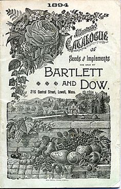Catalog Information    Company Name:  Bartlett and Dow    Catalog Title:  Illustrated Catalogue of Seeds and Implements (1894)  Publication Information:  Lowell, MA  United States  Category(ies) of Cover Art:  Fruit  Roses