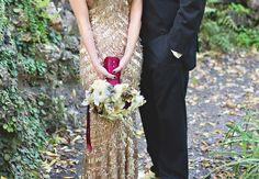 Pop of color Bouquet Wraps That Wow | Photo: Untamed Heart Photography | Blog.TheKnot.com