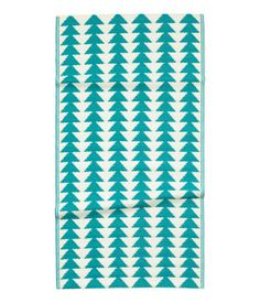 Patterned Plastic Rug | Turquoise | Home | H&M US