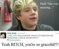 Niall said nothing but good things but look at Holly..wow