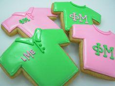 monogrammed phi mu cookies. adorable!