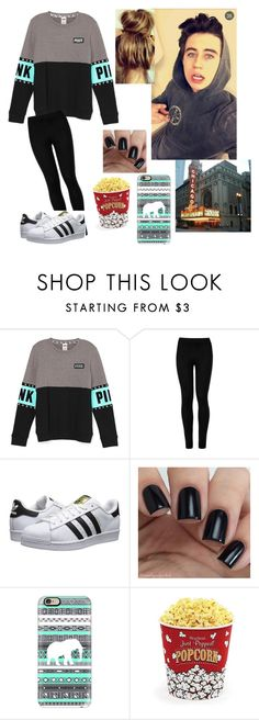 """""""Movies with Nash"""" by espinosa-dolans ❤ liked on Polyvore featuring Wolford, adidas Originals, Casetify and West Bend"""